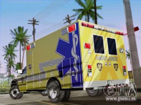 Dodge Ram Ambulance BCFD Paramedic 100 pour GTA San Andreas