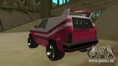 Sandking DUB für GTA San Andreas Rückansicht