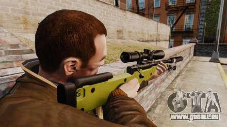 Fusil de sniper AW L115A1 avec un silencieux v3 pour GTA 4 secondes d'écran