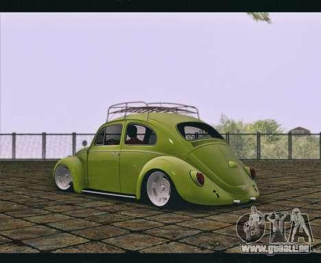 Volkswagen Beetle 1966 pour GTA San Andreas laissé vue