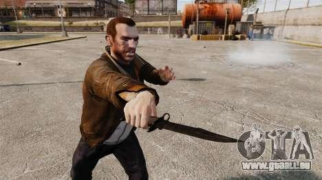 Le couteau de l'Alabama Slammer noir pour GTA 4 troisième écran