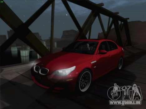 BMW M5 Hamann pour GTA San Andreas vue de dessus