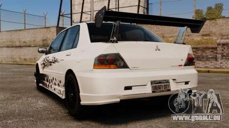 Mitsubishi Lancer Evolution VIII MR CobrazHD pour GTA 4 Vue arrière de la gauche