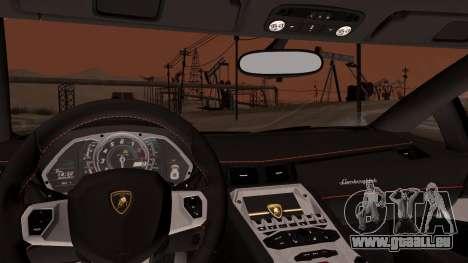 Lamborghini Aventador LP760-2 2013 pour GTA San Andreas vue de côté