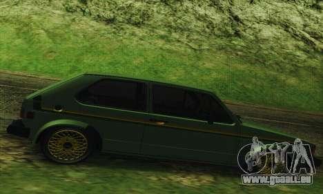 Volkswagen Rabbit GTI 1986 Cult Style pour GTA San Andreas laissé vue