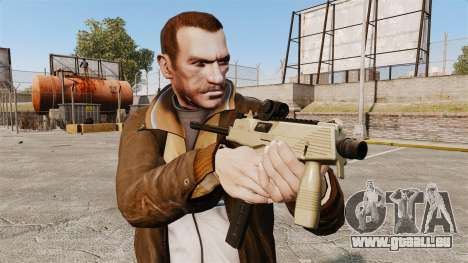 MP9 Maschinenpistole taktische v4 für GTA 4 dritte Screenshot