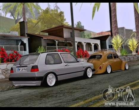 Volkswagen Golf Mk2 pour GTA San Andreas vue intérieure