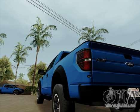 Ford F-150 SVT Raptor 2011 pour GTA San Andreas vue de droite
