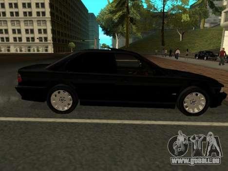 BMW 740I pour GTA San Andreas sur la vue arrière gauche