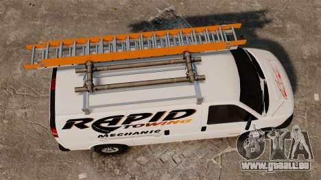 GMC Savana 2500 Rapid Towing Mechanic pour GTA 4 est un droit