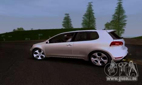 Volkswagen Golf 6 GTI pour GTA San Andreas vue intérieure