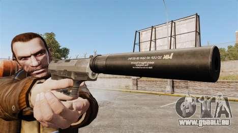 Walther P99 pistolet semi-automatique v2 pour GTA 4 troisième écran