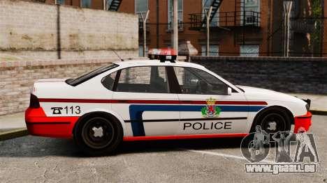 Luxemburg-Polizei für GTA 4 linke Ansicht