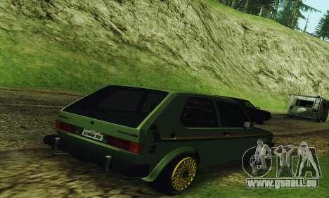 Volkswagen Rabbit GTI 1986 Cult Style pour GTA San Andreas sur la vue arrière gauche