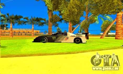 Infernus Rally Moster Energy 2012 pour GTA San Andreas sur la vue arrière gauche
