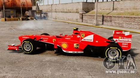 Ferrari F138 2013 v5 pour GTA 4 est une gauche