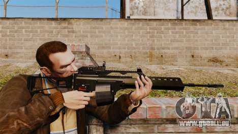 Fusil d'assaut H & K MG36 v4 pour GTA 4