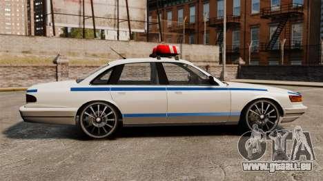 Polizei auf ein 20-Zoll-Laufwerken für GTA 4 linke Ansicht