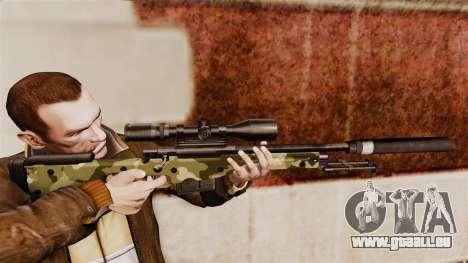 Fusil de sniper AW L115A1 avec un silencieux v7 pour GTA 4