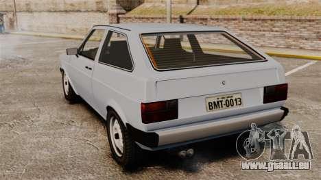 Volkswagen Gol LS 1986 pour GTA 4 Vue arrière de la gauche