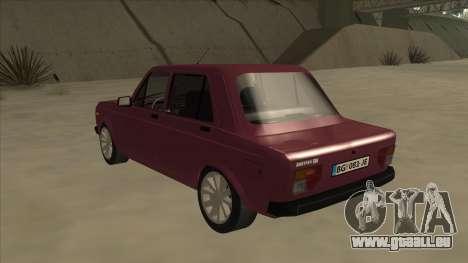Zastava Yugo 128 für GTA San Andreas Rückansicht
