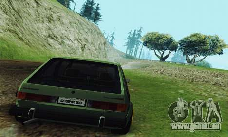 Volkswagen Rabbit GTI 1986 Cult Style pour GTA San Andreas vue de droite