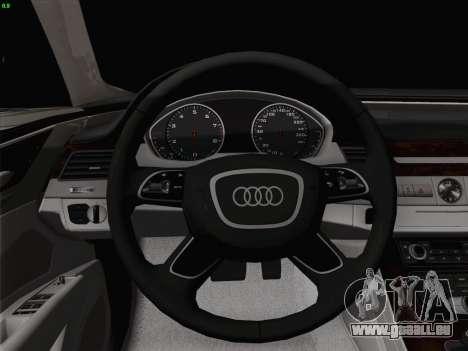 Audi A8 Limousine pour GTA San Andreas vue de dessous