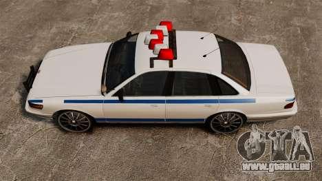 Polizei auf ein 20-Zoll-Laufwerken für GTA 4 rechte Ansicht