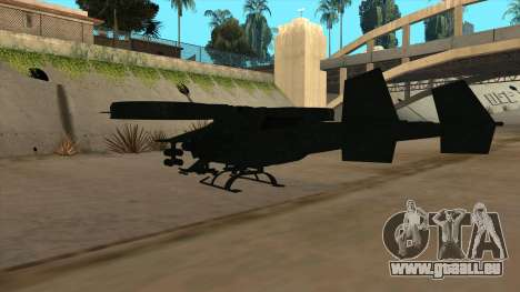 AT-99 Scorpion Gunship from Avatar für GTA San Andreas Rückansicht