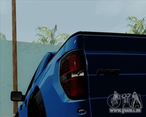 Ford F-150 SVT Raptor 2011 für GTA San Andreas Innenansicht