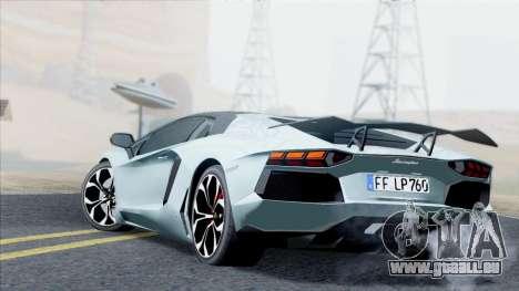 Lamborghini Aventador LP760-2 2013 pour GTA San Andreas vue arrière