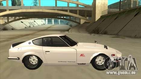 Nissan Fairlady Z - 240z pour GTA San Andreas laissé vue