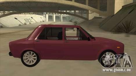 Zastava Yugo 128 pour GTA San Andreas sur la vue arrière gauche