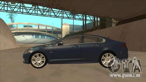 Jaguar XFR 2010 v1.0 für GTA San Andreas zurück linke Ansicht