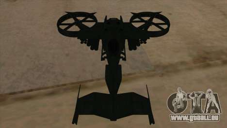 AT-99 Scorpion Gunship from Avatar pour GTA San Andreas vue de côté
