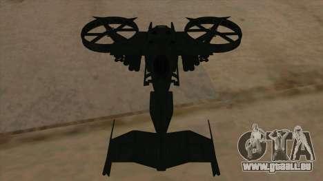 AT-99 Scorpion Gunship from Avatar für GTA San Andreas Seitenansicht