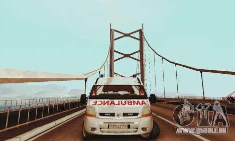 Renault Master PCSO AMBULANCE pour GTA San Andreas laissé vue