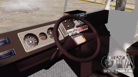Chevrolet Step-Van 1985 NYPD pour GTA 4 Vue arrière