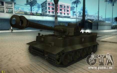 Pzkpfw VI Tiger I pour GTA San Andreas