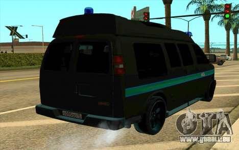 GMC Savana AWD FSB pour GTA San Andreas laissé vue
