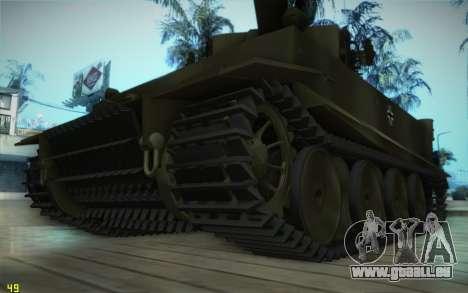 Pzkpfw VI Tiger I pour GTA San Andreas laissé vue