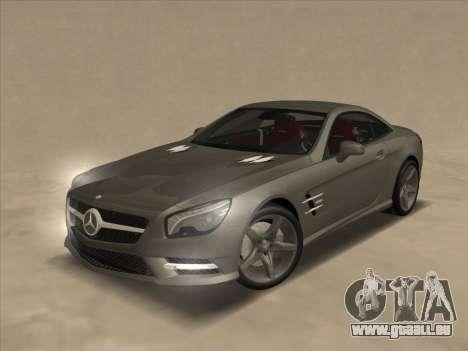 Mercedes-Benz SL500 2013 (ImVehFt v2.02) für GTA San Andreas obere Ansicht