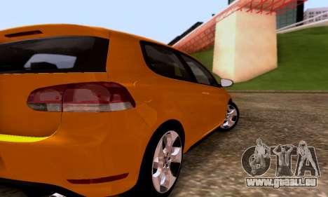 Volkswagen Golf 6 GTI pour GTA San Andreas vue de droite