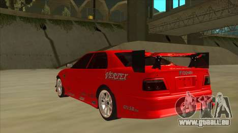 Toyota Chaser JZX100 DriftMuscle pour GTA San Andreas vue arrière