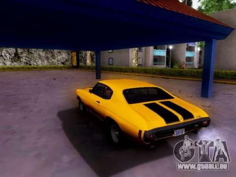 Chevrolet Chevelle SS 1970 pour GTA San Andreas sur la vue arrière gauche