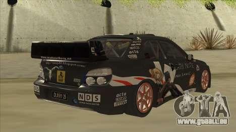 Subaru Impreza WRC Itasha pour GTA San Andreas vue de droite