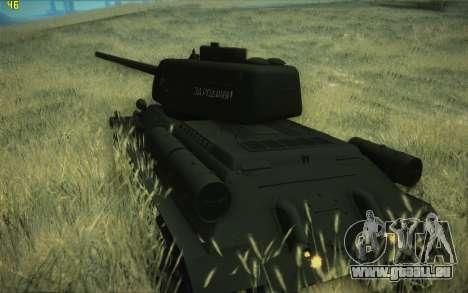 T-34-85 modèle 1945 pour GTA San Andreas laissé vue