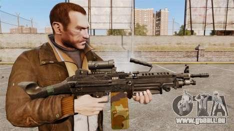 Mitrailleuse légère M249 SAW pour GTA 4