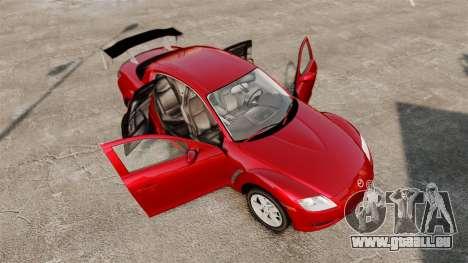 Mazda RX-8 Light Tuning pour GTA 4 est un côté