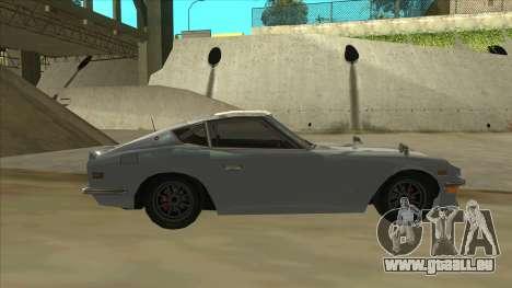Nissan Fairlady S30Z pour GTA San Andreas sur la vue arrière gauche